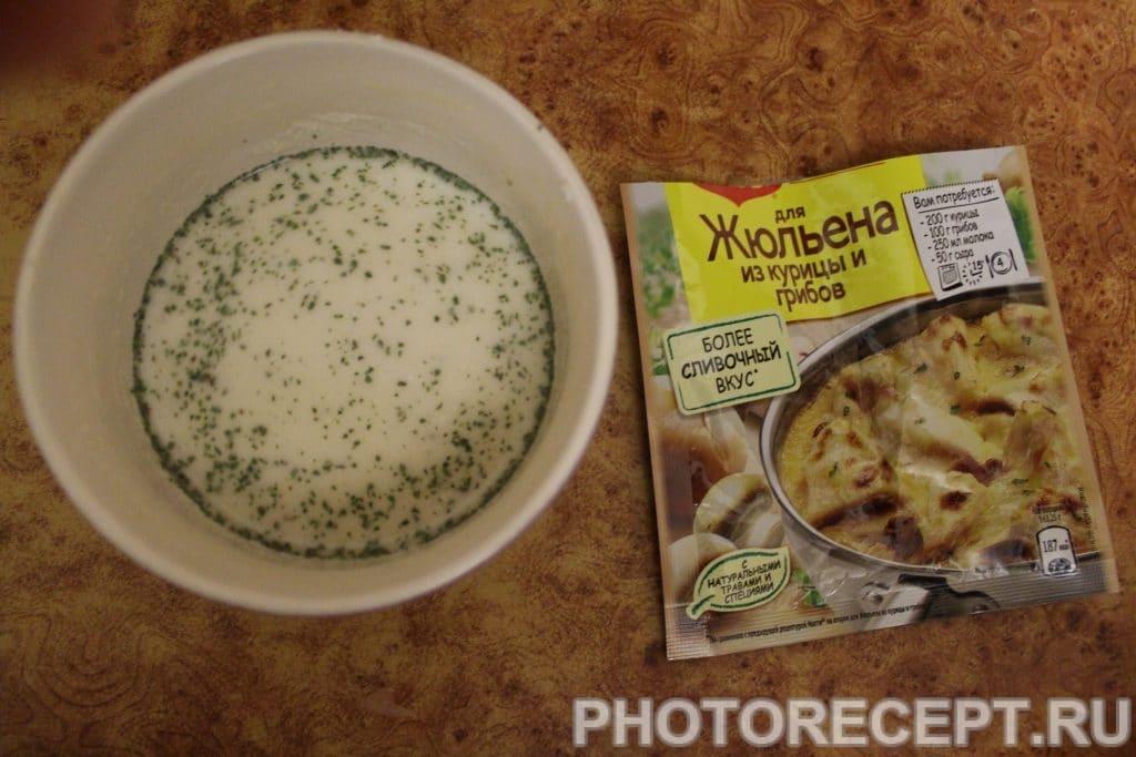 Фото рецепта - Курица с грибами в сливочном соусе - шаг 3