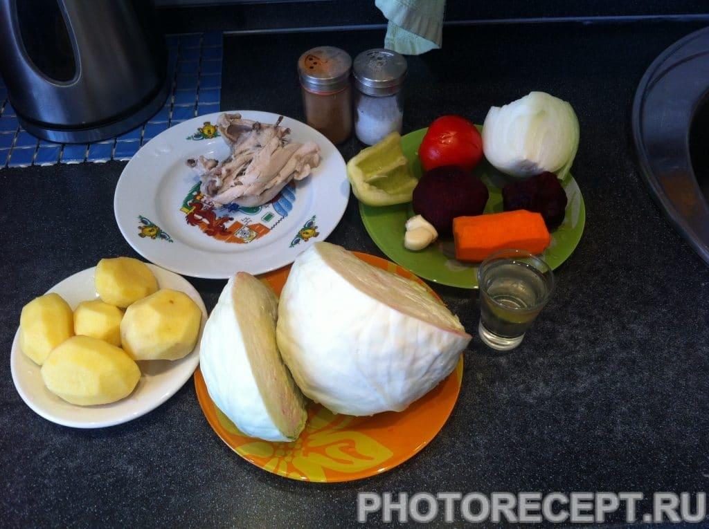 Фото рецепта - Наваристый красный борщ - шаг 1