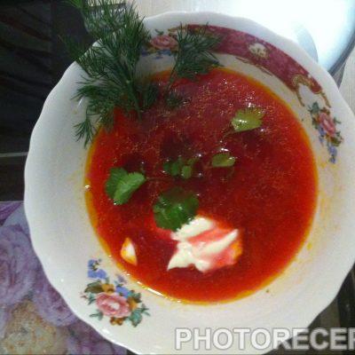 Наваристый красный борщ - рецепт с фото