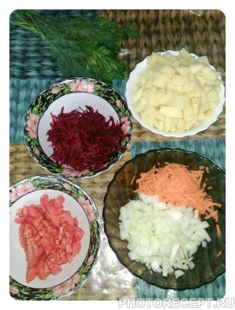 Фото рецепта - Борщ без капусты - шаг 7