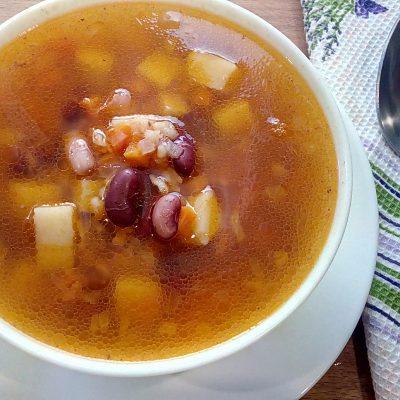 Суп томатный с фасолью - рецепт с фото