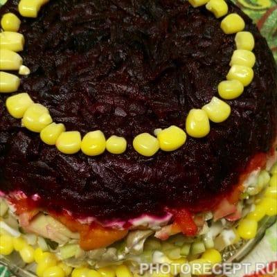 Овощной слоёный салатик - рецепт с фото