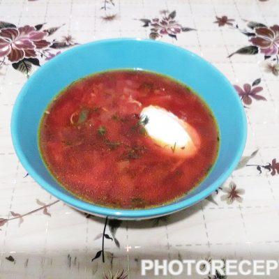 Борщ с курицей - рецепт с фото