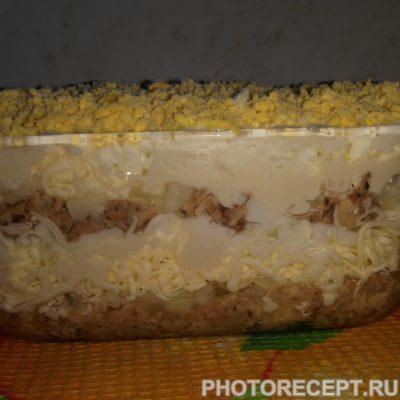 Фото рецепта - Салат — «МИМОЗА» - шаг 8