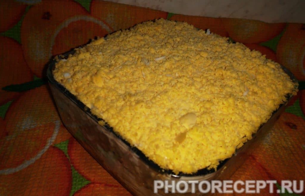 Фото рецепта - Салат — «МИМОЗА» - шаг 9