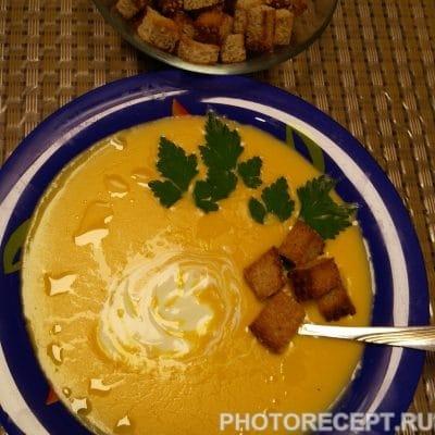 Суп пюре из тыквы с плавленным сыром и сливками - рецепт с фото