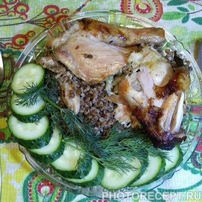 Курица фаршированная гречневой кашей - рецепт с фото