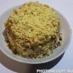 Нежный салат с крабовыми палочками и картофелем
