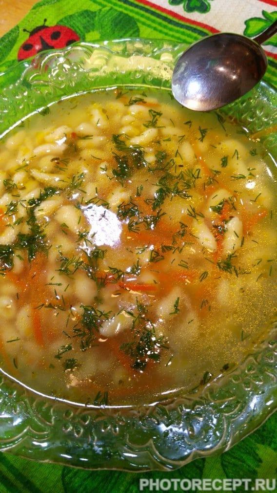 Фото рецепта - Суп с мини — клёцками - шаг 7