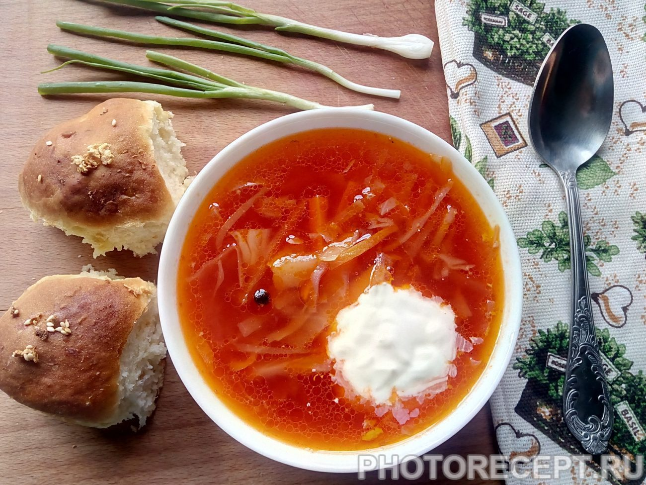 Украинский борщ из свежей капусты пошаговый рецепт