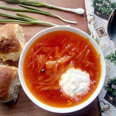 Украинский борщ с пампушками - рецепт с фото