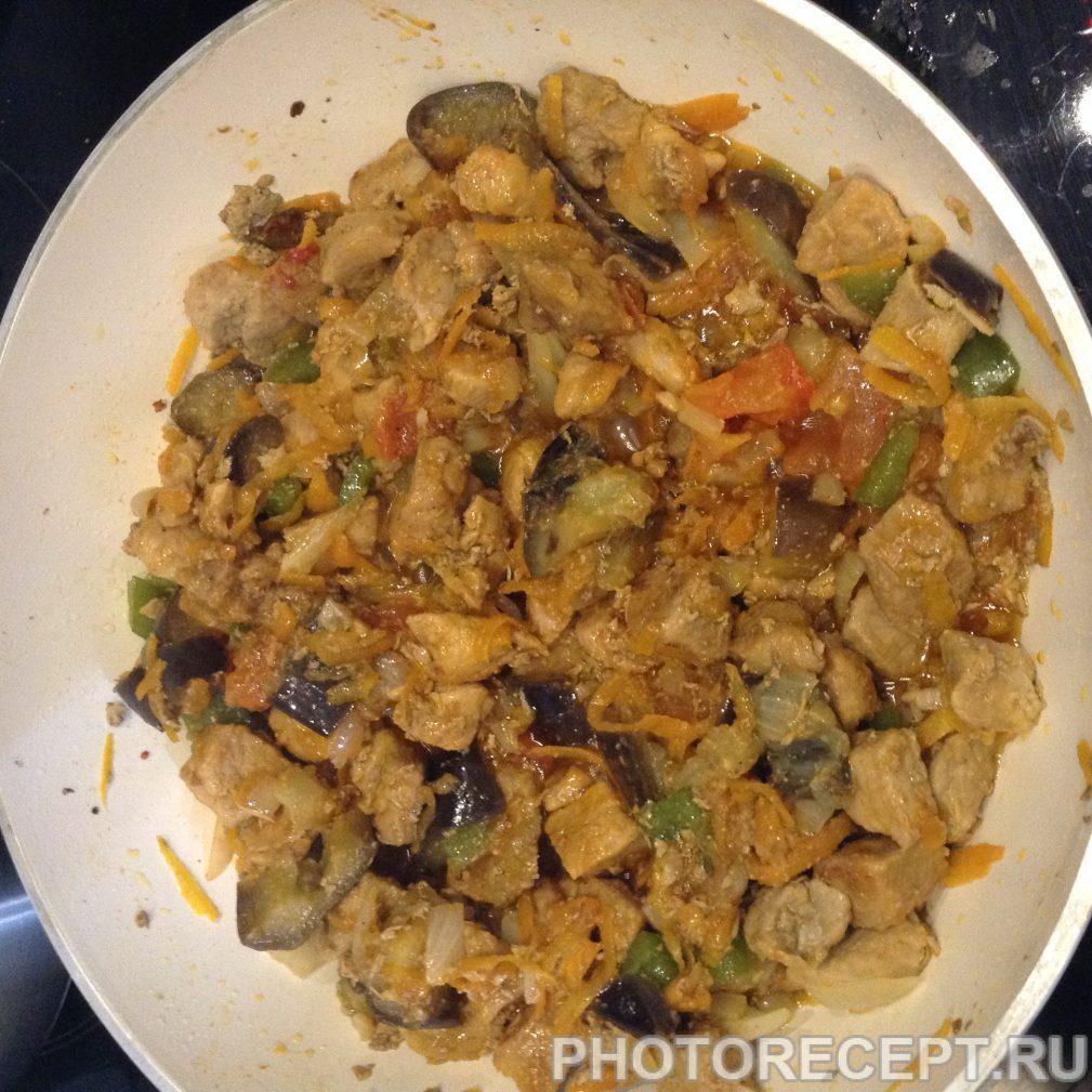 Фото рецепта - Вкусный  и простой рецепт  мяса с овощами. - шаг 5