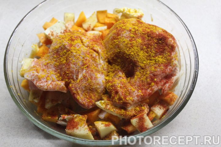 Фото рецепта - Курица с индийским тыквенным чатни - шаг 4
