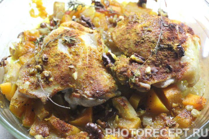 Фото рецепта - Курица с индийским тыквенным чатни - шаг 6
