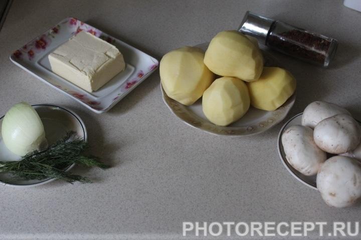 Фото рецепта - Картофель фаршированный грибами - шаг 1