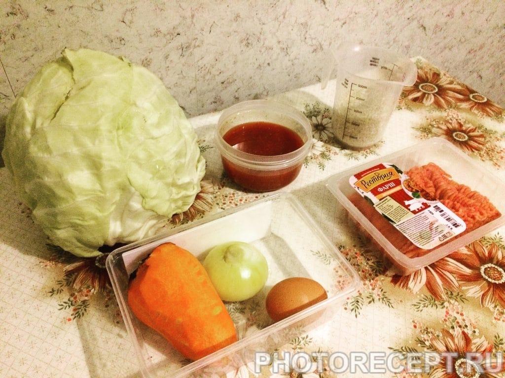 Фото рецепта - Голубцы с фаршем и рисом - шаг 1