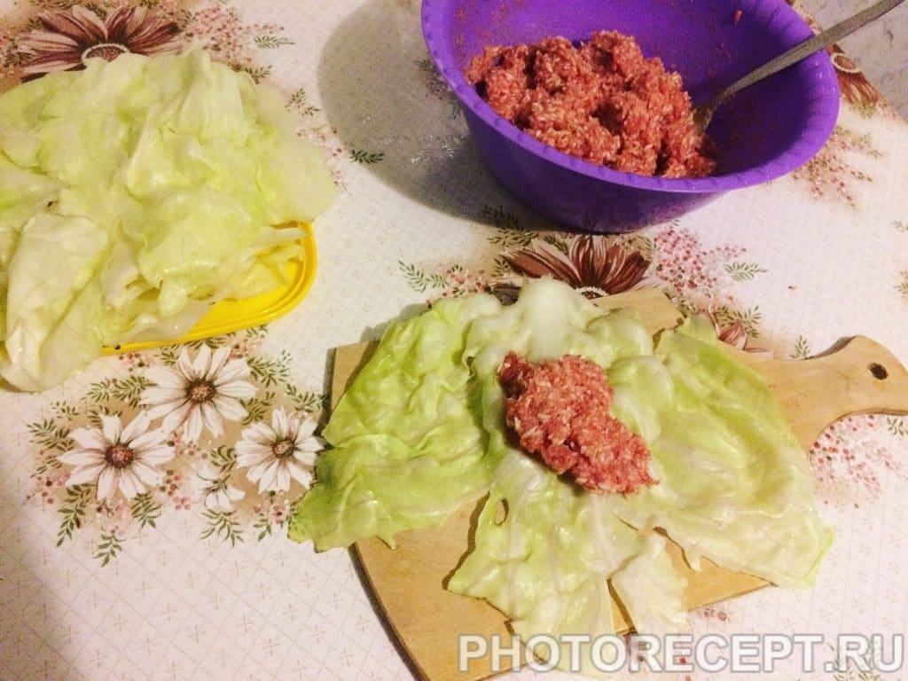 Фото рецепта - Голубцы с фаршем и рисом - шаг 4