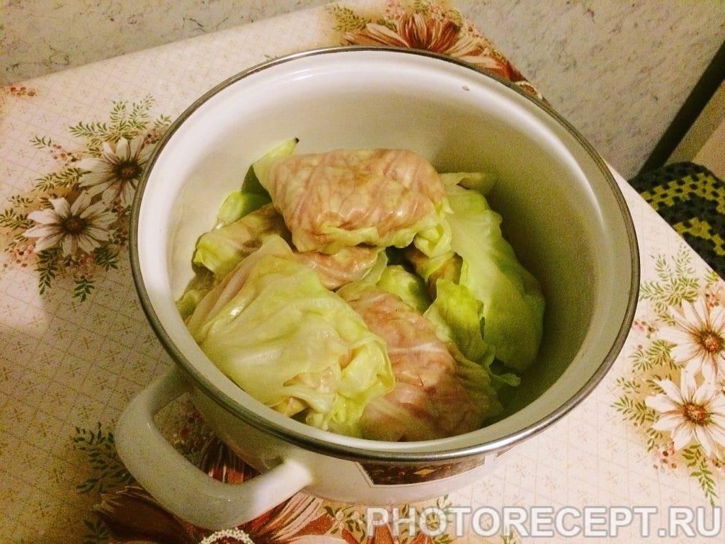 Фото рецепта - Голубцы с фаршем и рисом - шаг 5