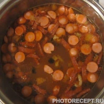 Фото рецепта - Сборная солянка с колбасой - шаг 7