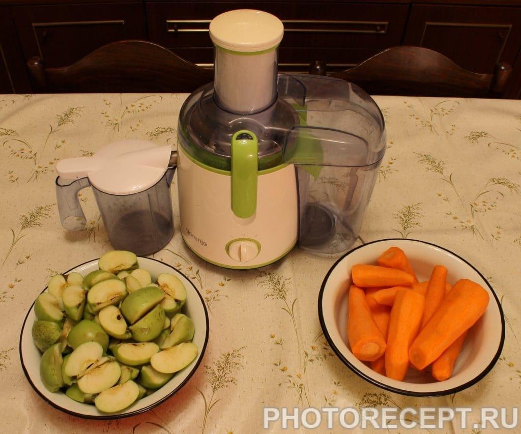 Фото рецепта - Сок морковно-яблочный с мякотью - шаг 2