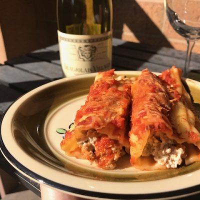 Фаршированные маникотти в томатном соусе - рецепт с фото