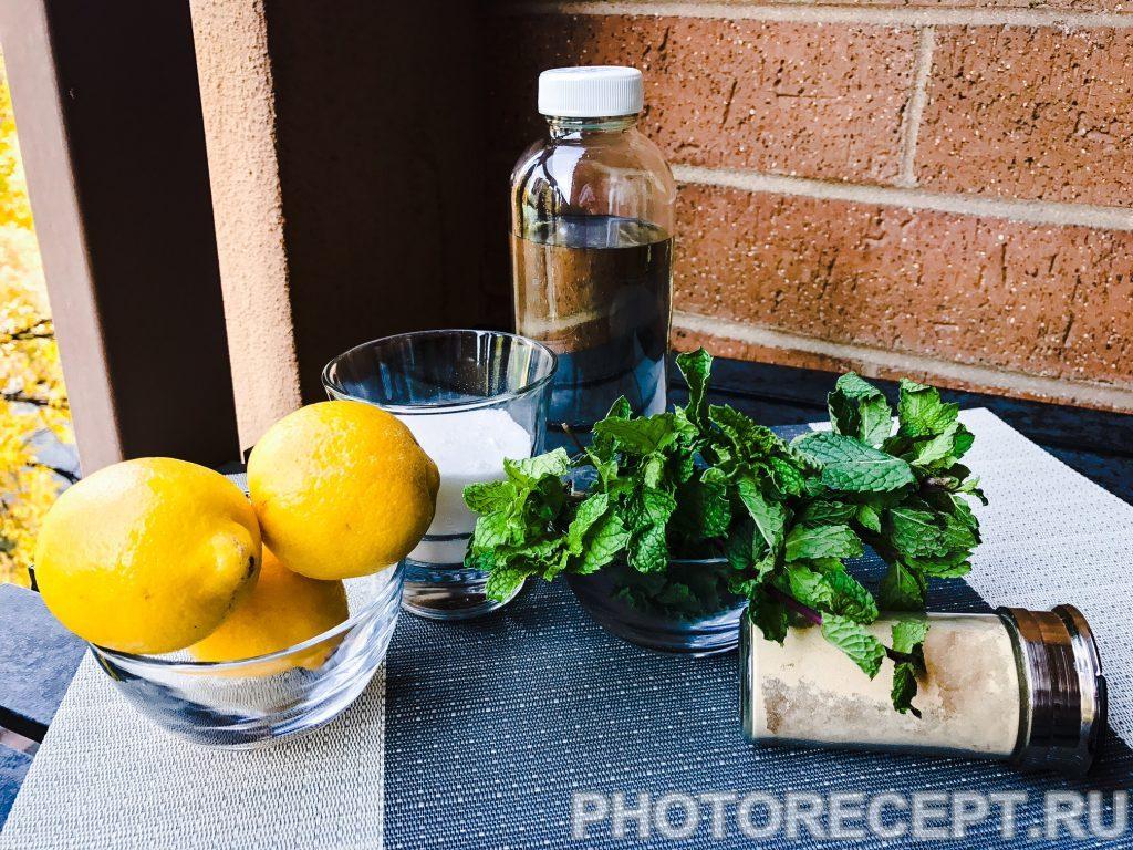 Фото рецепта - Лимонад с мятой и имбирем - шаг 1