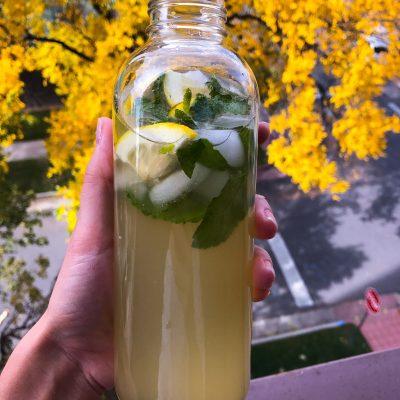 Лимонад с мятой и имбирем - рецепт с фото