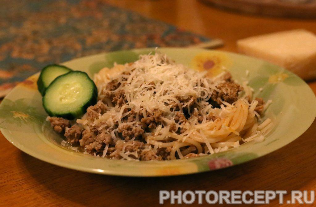 Фото рецепта - Спагетти с мясным соусом - шаг 5
