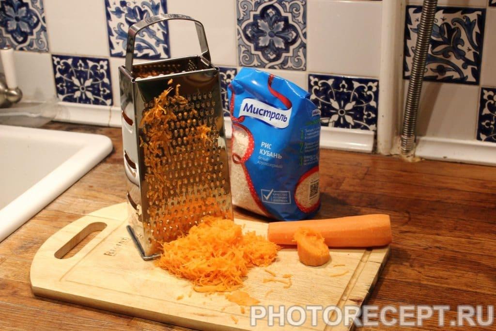Фото рецепта - Кальмары фаршированные рисом - шаг 2