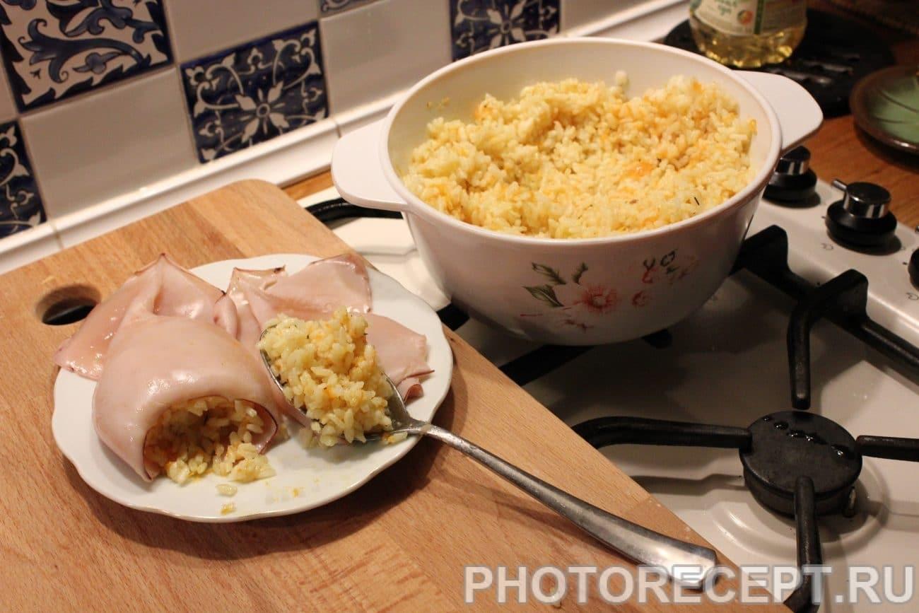 Фаршированный кальмар рис рецепт пошагово