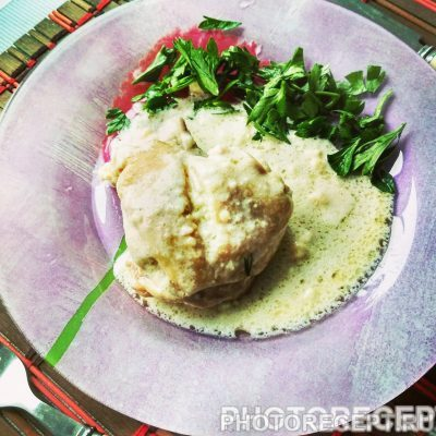 Курица в сливочном соусе - рецепт с фото