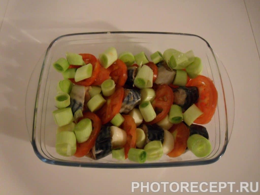 Фото рецепта - Скумбрия, запеченная в духовке - шаг 4