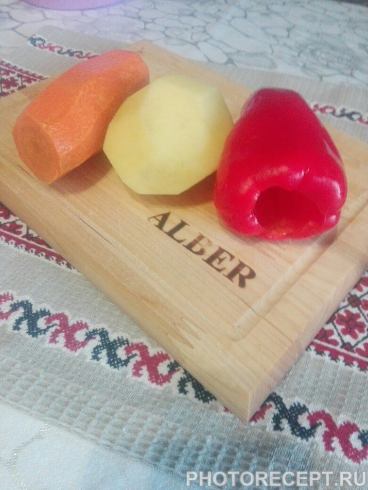 Фото рецепта - Курица с овощами в духовке - шаг 1