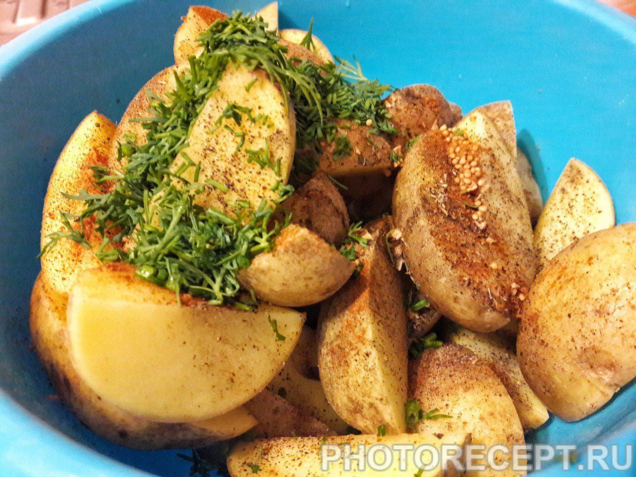 Печеный картофель рецепт фото