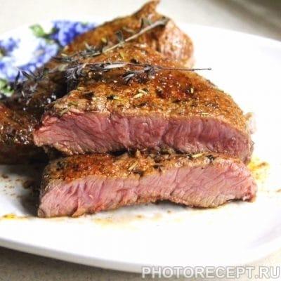 Стейк из говядины - рецепт с фото