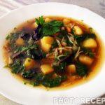 Суп из сушеных лесных грибов