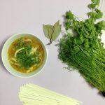 Овощной суп с пшеничной лапшой