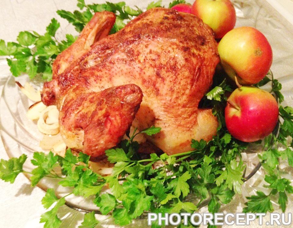 Запеченная курица с золотистой корочкой к праздничному столу