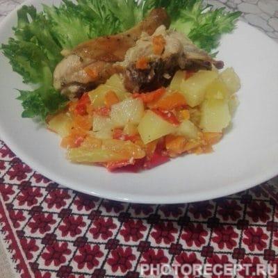 Курица с овощами в духовке - рецепт с фото