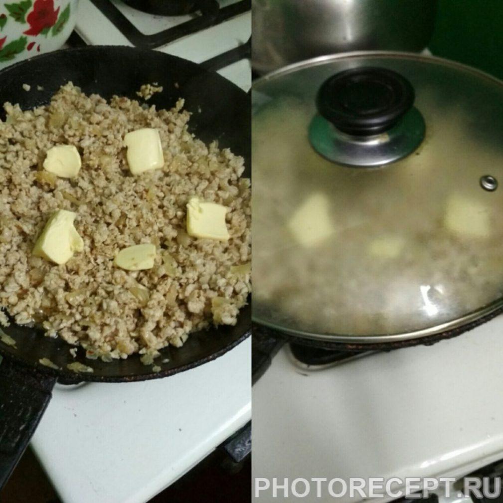 Фото рецепта - Макароны по-флотски с куриным фаршем - шаг 3