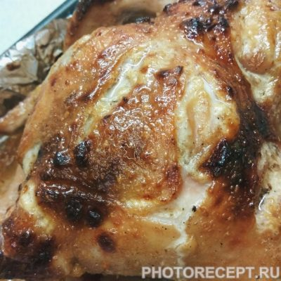 Фото рецепта - Запеченная курица с медово-соевым соусом - шаг 5