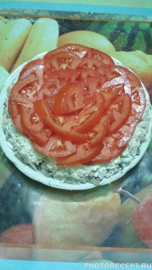 Салат из помидоров и мяса «Мужское наслаждение»