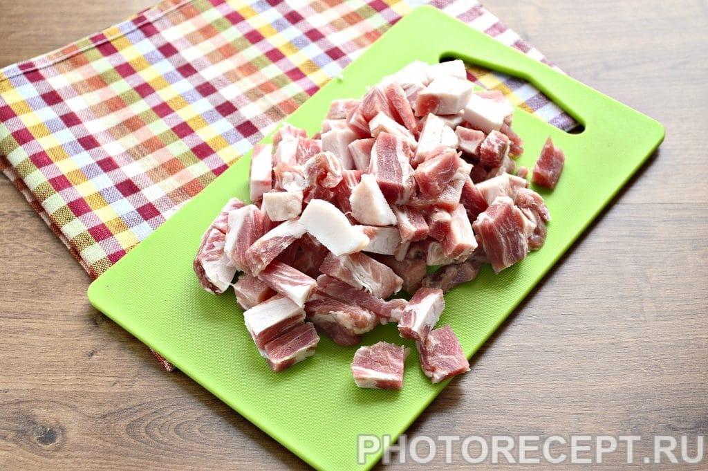 Фото рецепта - Рис с мясом на сковороде - шаг 1