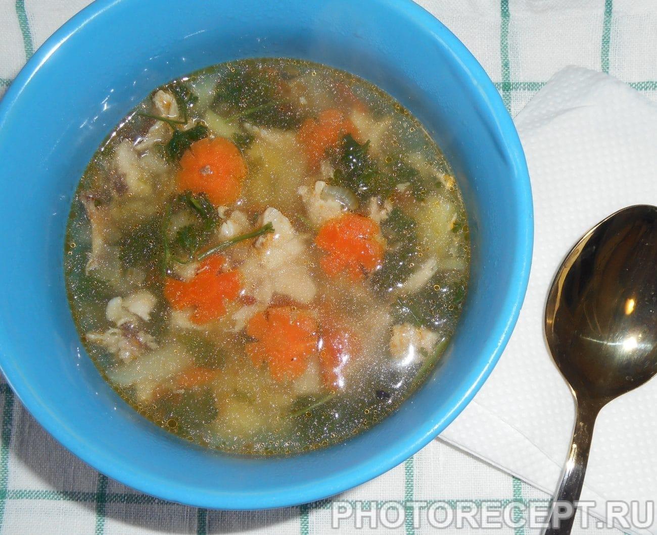 Куриный суп с яйцом и вермишелью рецепт пошагово в