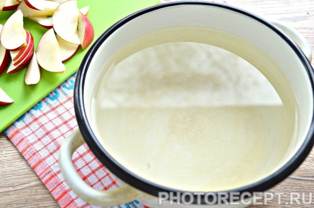 Фото рецепта - Компот из свежих яблок - шаг 2