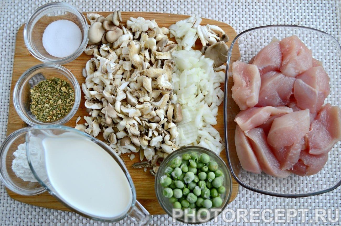 фрикасе из курицы классический рецепт с фото пошагово с грибами
