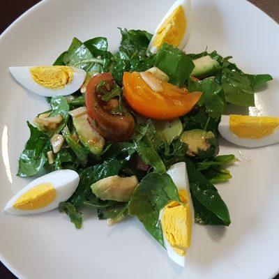 Салат из авокадо и шпината - рецепт с фото