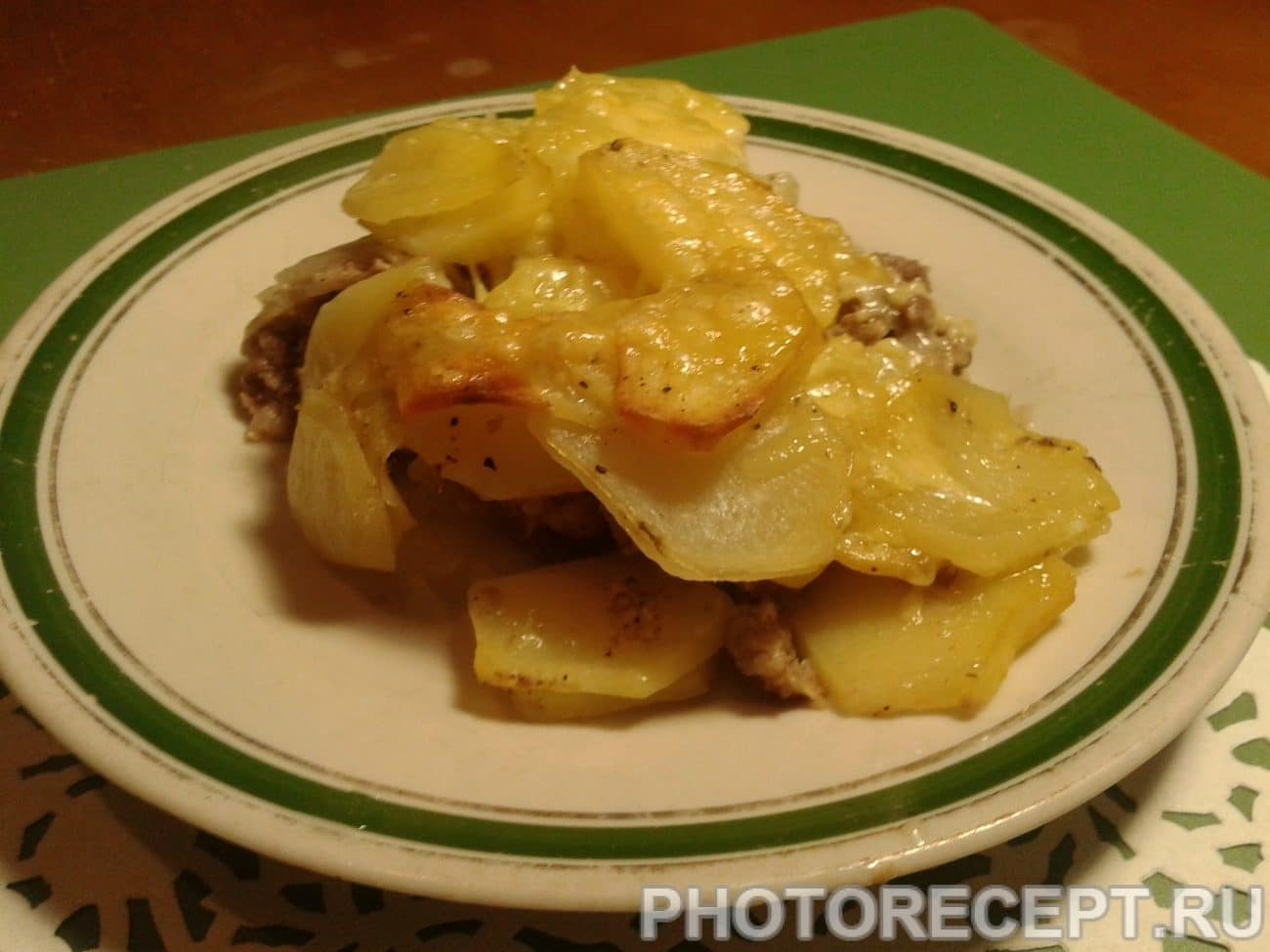 Блюдо из картошки и фарша фото рецепт пошаговый