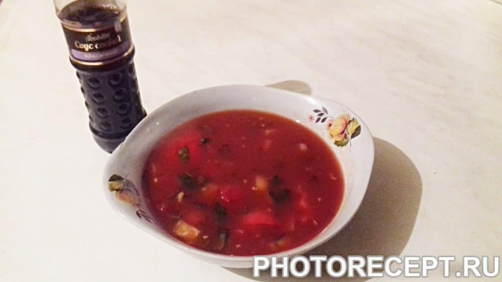 Фото рецепта - Суп гаспачо - шаг 4