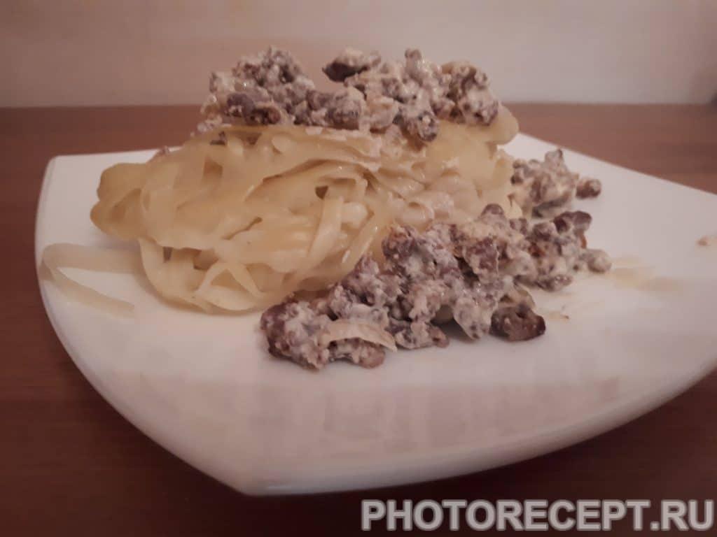 Фото рецепта - Фетучини с фаршем - шаг 5